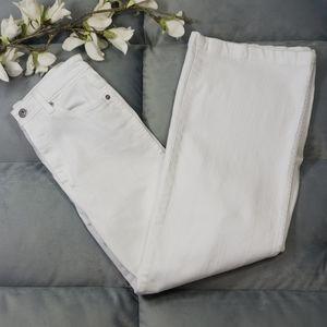 AG Theroy Yvette White Jeans High Rise Wide Leg 25